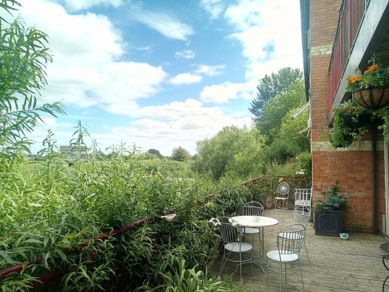 Langport, UK: Our deck besides the river