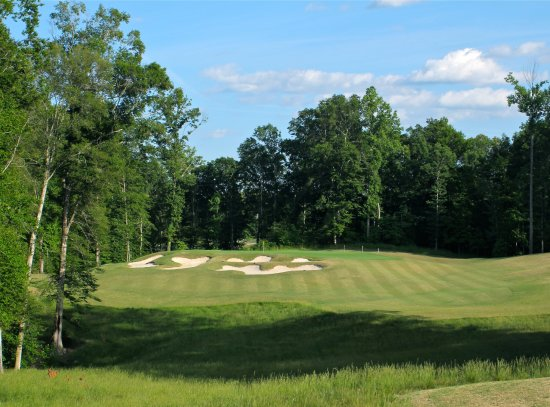 New Kent, VA: View of the green from the tee box on our par 3 8th hole