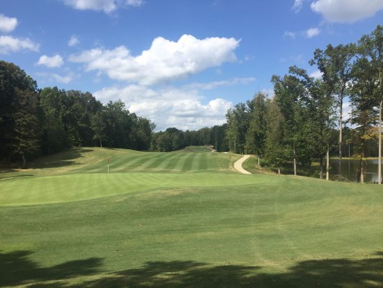 New Kent, VA: View of the green on our par 4 9th hole