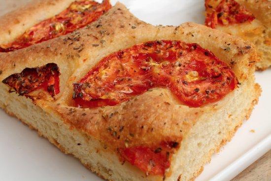 Pronto Italian Street Food : Focaccia bread with tomato and oregano