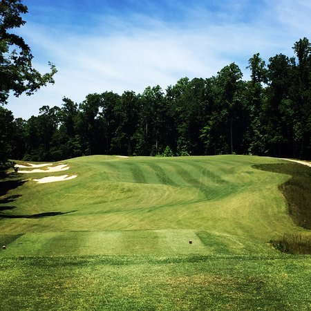 New Kent, VA: View of our par 4 3rd hole from the tee box