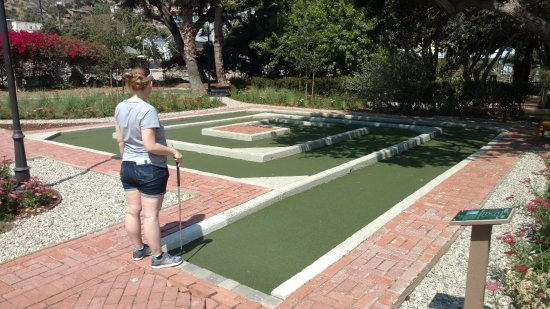 Golf Gardens Miniature Golf: My wife, about to embark on the most difficult hole...