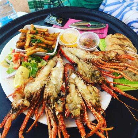 Cul de Sac, St. Maarten-St. Martin: Karibuni bar lobster