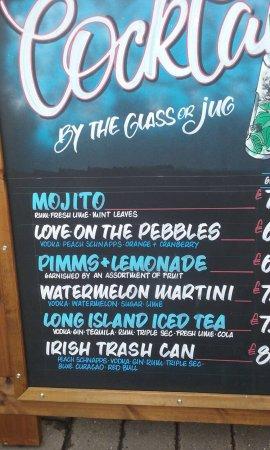Brighton Beach: Lots of fun cocktails