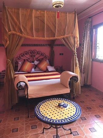Riad Hamza : Doppelbett im Zimmer mit Klimaanlage