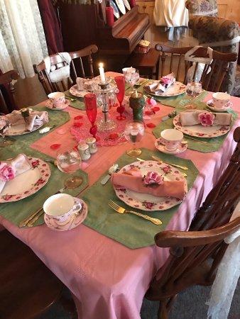 Bellwood, PA: A valentine Dinner setting