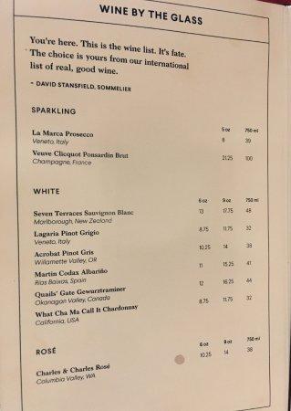 Tysons Corner, VA: White Wines by the Glass