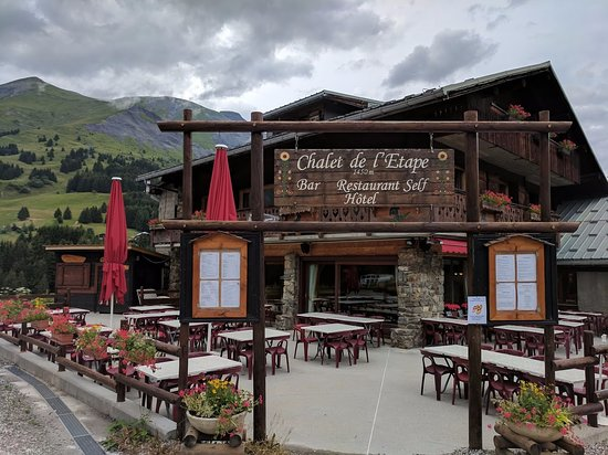 Les Contamines-Montjoie, Frankrig: the entrance of the Hotel / Restaurant