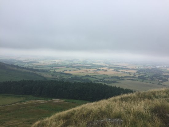 North Yorkshire, UK: Shame the low cloud spoilt the view