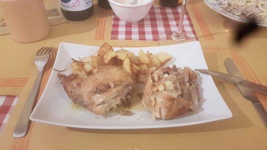 La Bottega del Giullare: rabbit in porchetta - delicious
