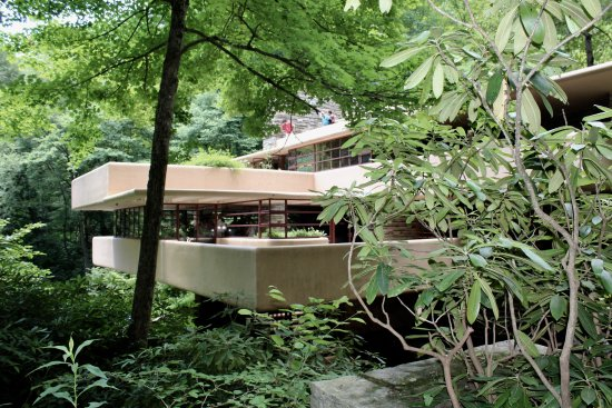 Fallingwater: Many cantilevered terraces bring the outdoors in and make the house seem larger than it is.