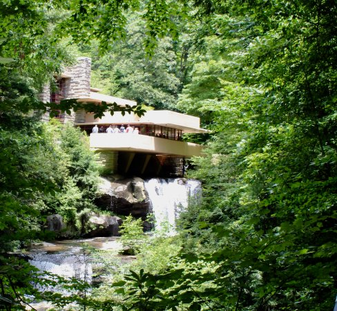 Fallingwater: You have to get a glimpse of the house from this angle.