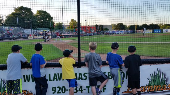 Green Bay, WI: The little guys watching the big guys!