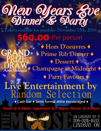 Lindsay, Canada: New Years Eve @ The Moose!