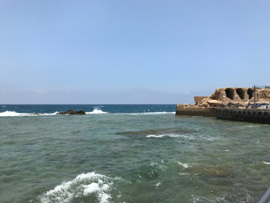 Acre, Israel: The sea can be seen from many sides.