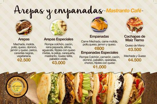 San Rafael de Escazu, Kostaryka: arepas y empanadas Venezolanas !