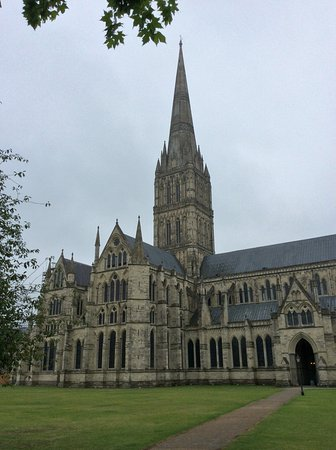 Salisbury, UK: View of cathedral from a different angle