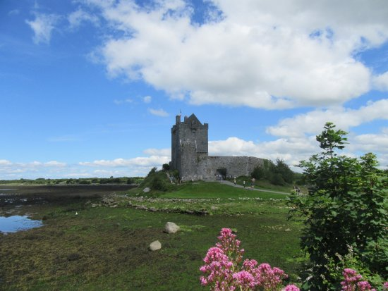 Oranmore, Irlandia: Vies of castle from road leading from car park