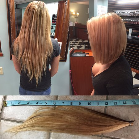 Leeds, NY: Before and After - Hair donated!