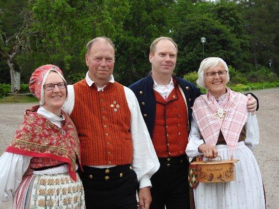 Lagan, Sweden: Sweden enroute to Stockholm. Toftaholm Manor. Swedish folk dancers at Toftaholm manor.