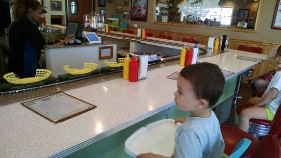 Glen Ellyn, IL: Max watching the train.