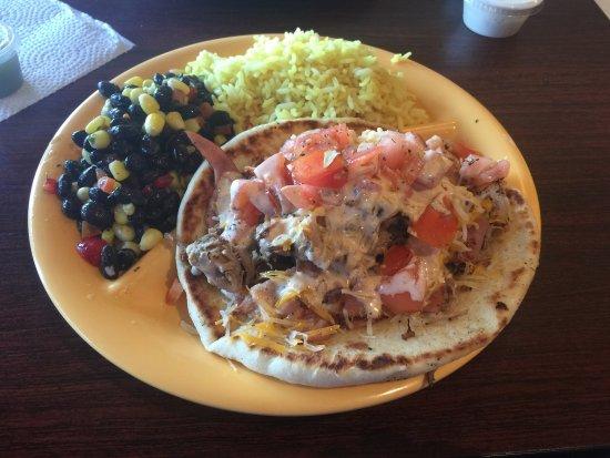Springfield, VA: Cuban platter and chicken quesadilla platter