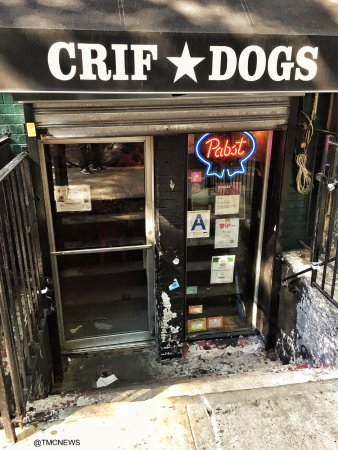 Crif Dogs NYC front door & Crif Dogs NYC front door - Picture of Crif Dogs New York City ...