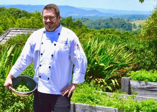 Floyd, VA: Executive Chef Jon Papa in the Kitchen Garden