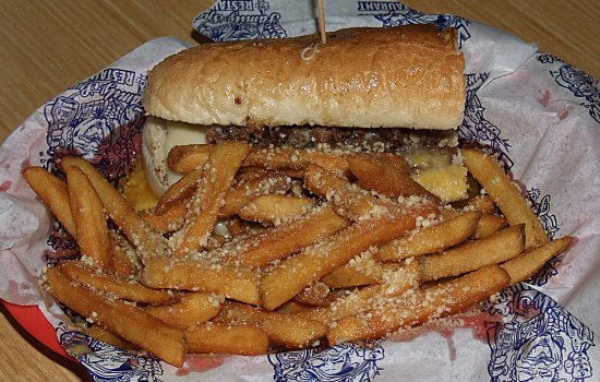 Leesburg, FL: Cheese Steak with Garlic Parm Fries!!