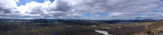 Kirkjubaejarklaustur, ไอซ์แลนด์: From the top of mountain Laki.