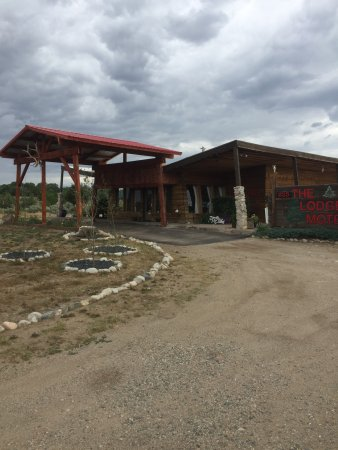 Fort Garland, Kolorado: Our new front entrance has been completed.