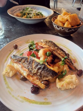 Jamie's Italian: Sea bass special - and very special it was too! :)