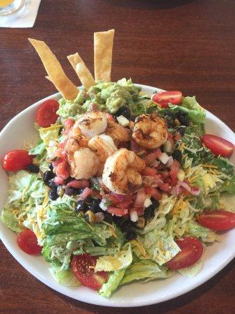 Salt Life Food Shack: Taco shrimp salad was delicious - plenty of guacamole, too.
