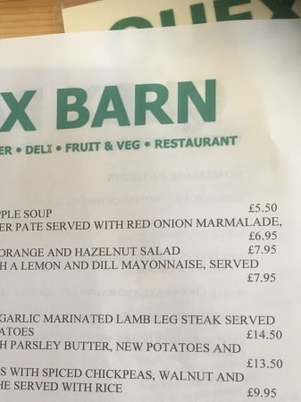 Birchington, UK: Lunch time menu