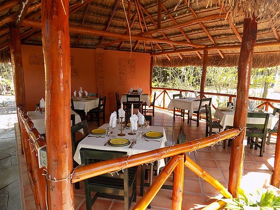 Rio Bec Dreams: Palapa Dining Room