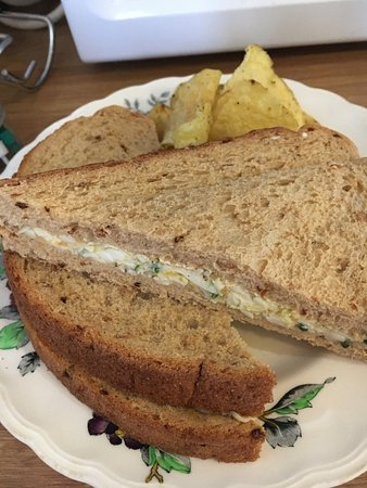 Egg mayonnaise & mustard cress sandwich