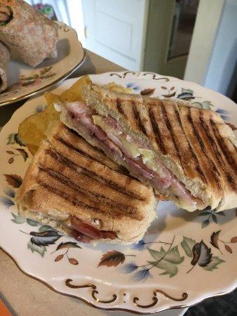 Brie & bacon panini