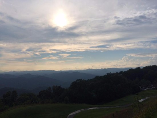 Burnsville, NC: front view of the mountains, just out the front door