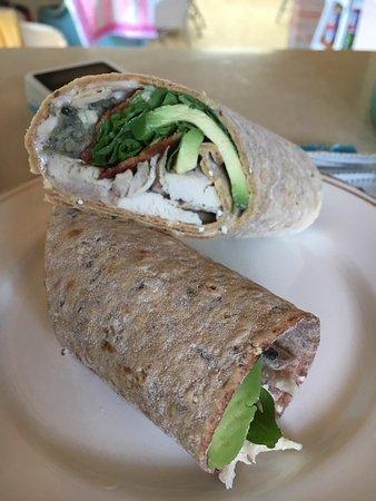 Gluten free chicken, bacon & avocado wrap