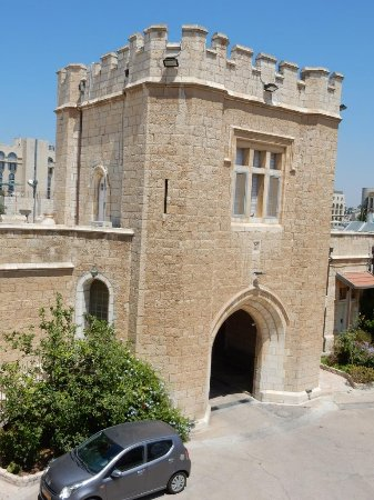 St. George's Cathedral Guest House: Gate Tower - entrance at lower level, and door above gives access to the terrace.