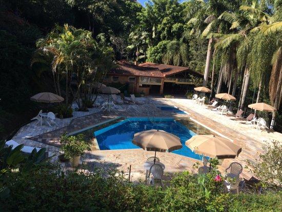 Monte Alegre do Sul, SP : Vista da piscina