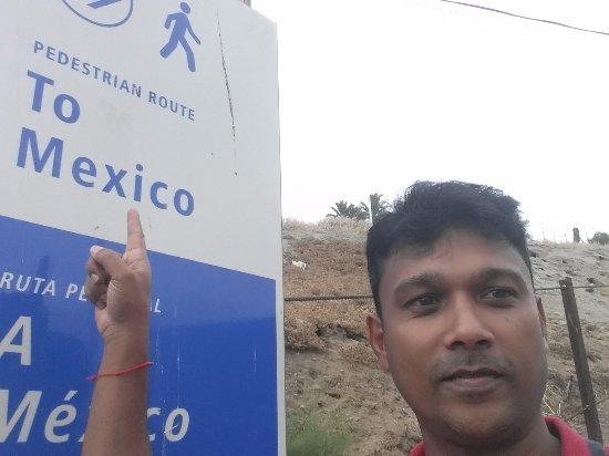 San Ysidro, Kalifornien: Foot path to Mexico