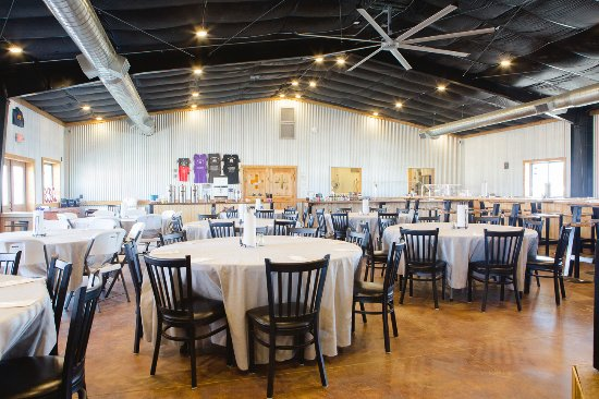 Alpine, TX: Dining room decorated for a private banquet.