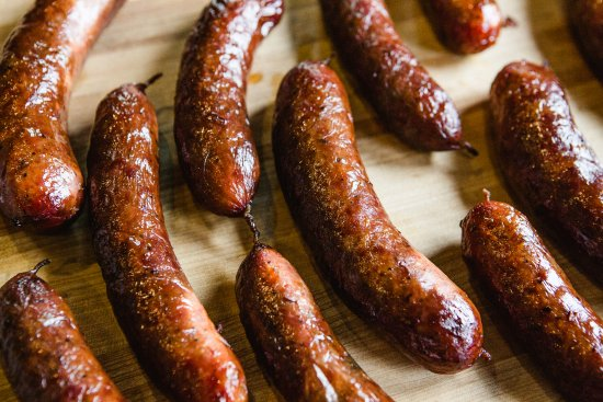 Alpine, TX: 80-20 sausage hand made in house.