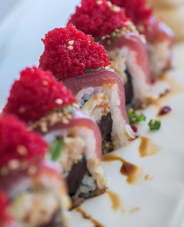 Fresh sushi options available daily at Wai'olu Ocean View Lounge from the freshest catch.