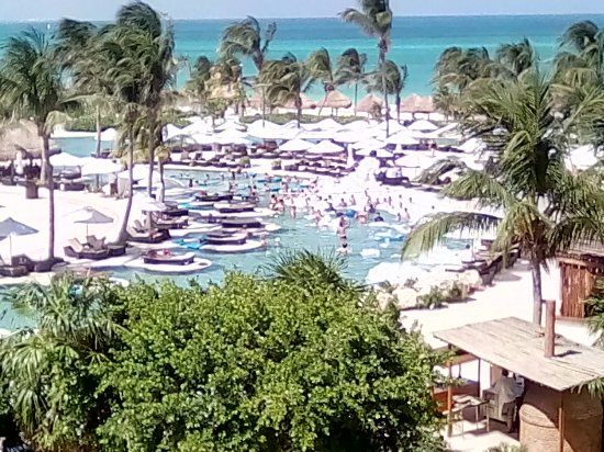 Secrets Maroma Beach Riviera Cancun: View from top flloor building 25.