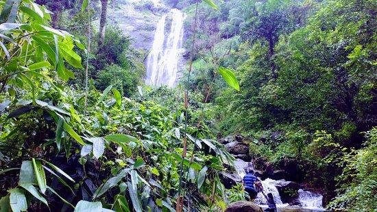 Kuttikkanam, Índia: One of the waterfalls during Jeep Safari