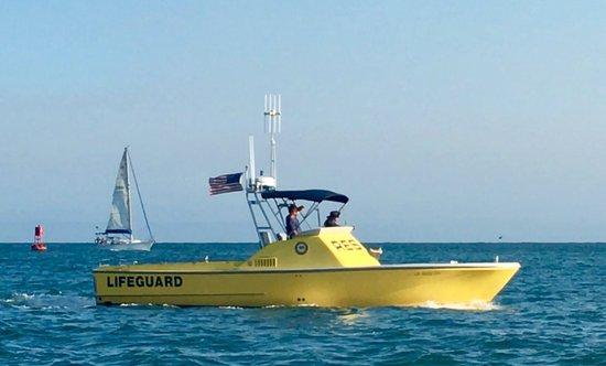Outside of DANA POINT HARBOR, Lifeguard RESCUE Boat!