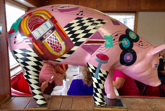 Lexington, NC: The pig inside the restaurant