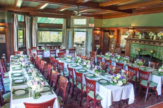 Manchester, VT: Rehearsal dinner party in the Billiard Dining Room at the Wilburton Inn & Restaurant